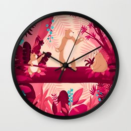 Dancing with the bears Wall Clock