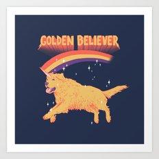 Golden Believer Art Print