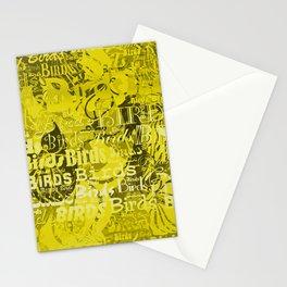 Birds V1 TYELLOW Stationery Cards