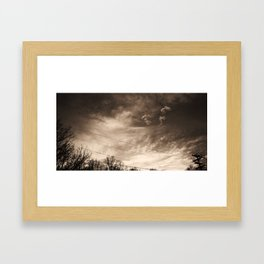 Telephone Wires & Crows Framed Art Print