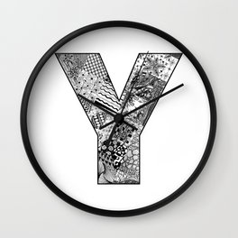 Cutout Letter Y Wall Clock