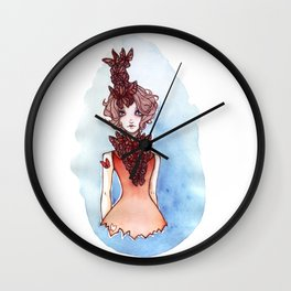 Chins up, smiles on  Wall Clock