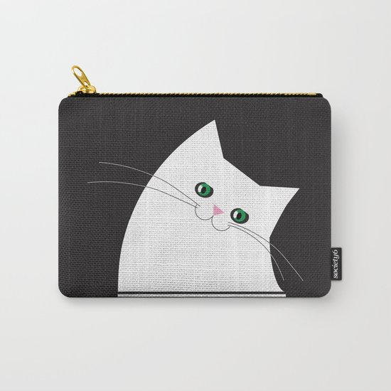 White Cat of Lisa Carry-All Pouch