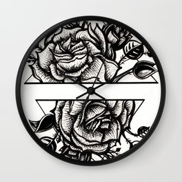 organic geometric Wall Clock