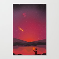 A shooting star Canvas Print