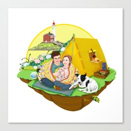 Custom Illustration for Emma and Edward Canvas Print