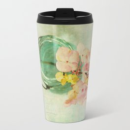 French Vintage Hydrangea Travel Mug