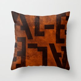 Ale Beer Typography Throw Pillow