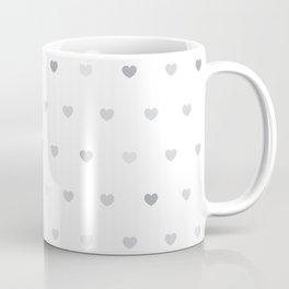 Small grey hearts pattern on white Coffee Mug