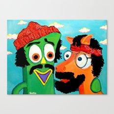 Chumby & Chokey Canvas Print
