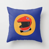 2001 a space odyssey Throw Pillows featuring Dave's Helmet - 2001: A Space Odyssey by Matt Dunne