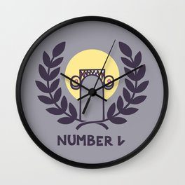 Number One Wall Clock