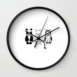 Little Animals Wall Clock