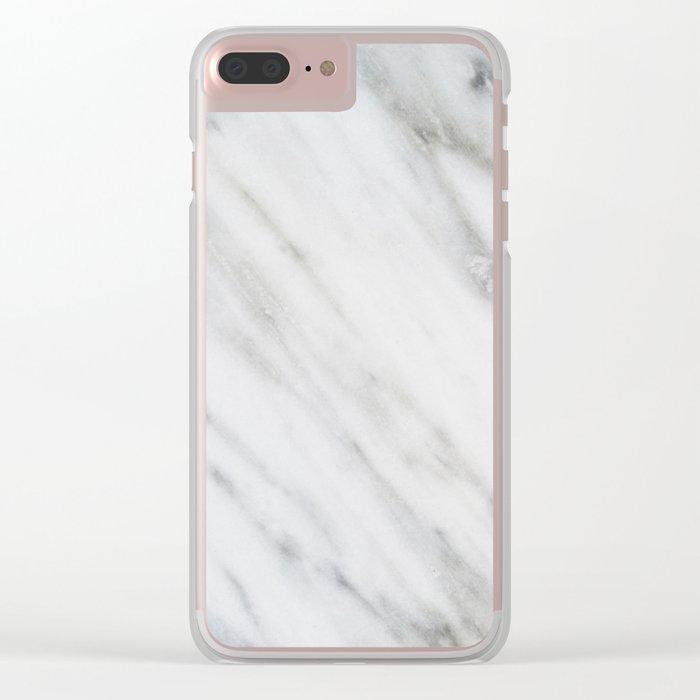 Carrara Italian Marble Clear iPhone Case