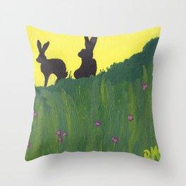 Young Peter Rabbit - Panel 3 Throw Pillow
