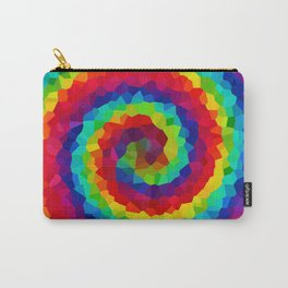 Tie Dye Ranbow Swirl Design. Carry-All Pouch