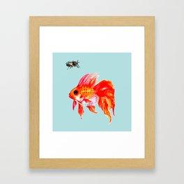 Goldfish and Cicada Framed Art Print