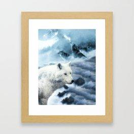 Wolves of Winter Framed Art Print