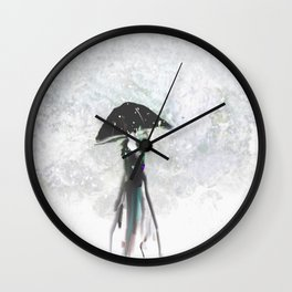 Showing Off in Emerald Wall Clock