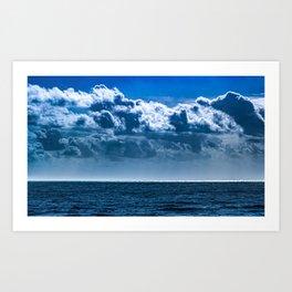 Layered Cloud Sky Art Print