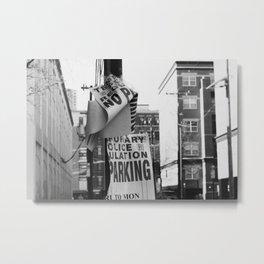 Parking on Parking Metal Print
