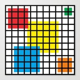 Modern geometric background, red, yellow, green,orange and blue  #society6 #decor #buyart #artprint Leinwanddruck
