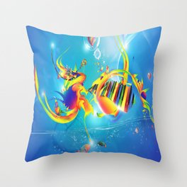 sprit of the music  Throw Pillow