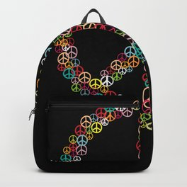 Peace Sign Hippie Peace Symbol Backpack