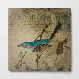 EPHEMERA  Birds Pair 1  Metal Print