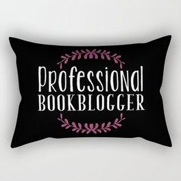 Professional Bookblogger - Black w Purple Rectangular Pillow