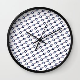 US Air force Roundel insignia - Pattern version Wall Clock