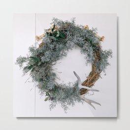 Summer Wreath Metal Print