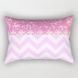 chevron and frieze Rectangular Pillow
