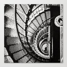 Spiral staircase black and white Canvas Print
