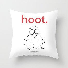 """owl """"hoot"""" Throw Pillow"""