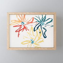Gestural Blooms Framed Mini Art Print