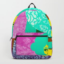 Rose and Green Dress Backpack