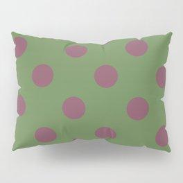 Pink and Green Pol Pillow Sham