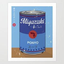 Ponyo - Miyazaki - Special Soup Series  Art Print