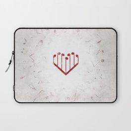 Music Heart gray Laptop Sleeve