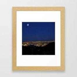 Runyon Moon Framed Art Print