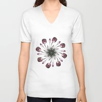 tulip V-neck T-shirts featuring tulip by Yuli Klaus