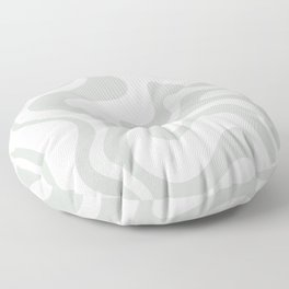 Liquid Swirl Abstract Pattern in Pale Stone and Light Silver Sage Gray Floor Pillow