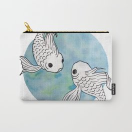 Pisces fish watercolor illustration Carry-All Pouch