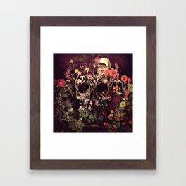 Bloom Skull Framed Art Print