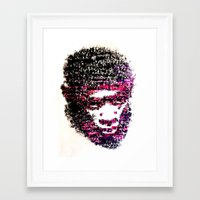 tyler the creator Framed Art Prints featuring OBSCENE (Tyler the Creator) by Monica Diaz