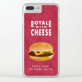 PULP FICTION - royale with cheese Clear iPhone Case