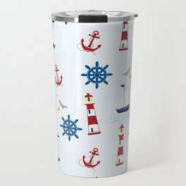 Nautical Collage Travel Mug