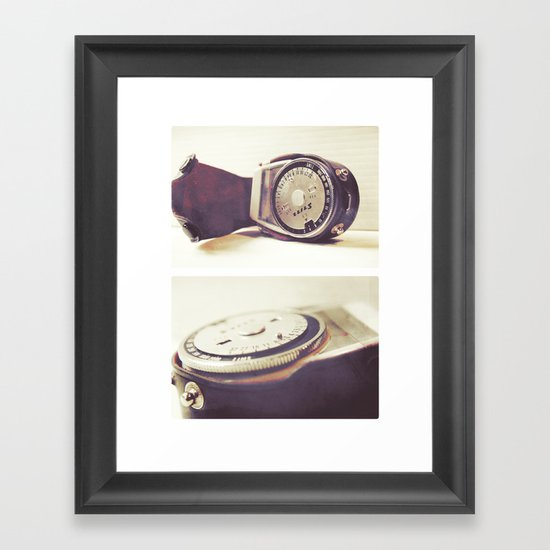 Vintage Stitz Light Meter Diptych Framed Art Print