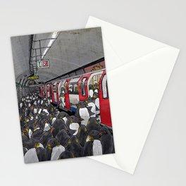 Penguins on the London Underground Stationery Cards